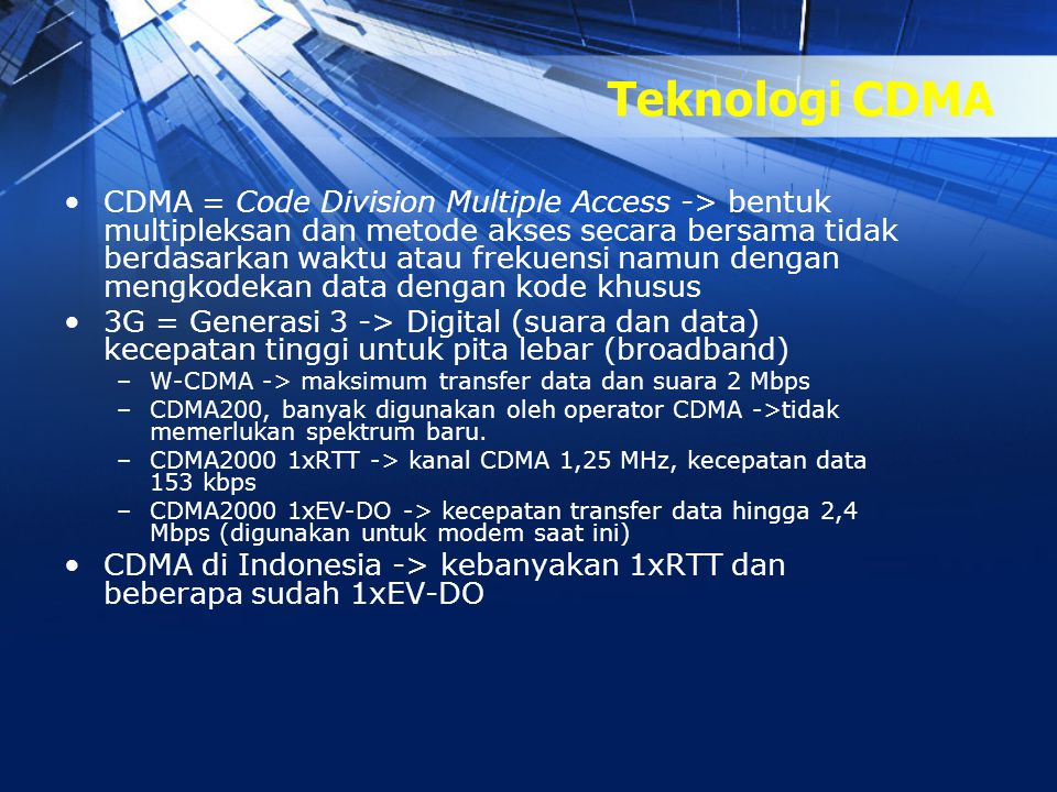 Teknologi CDMA