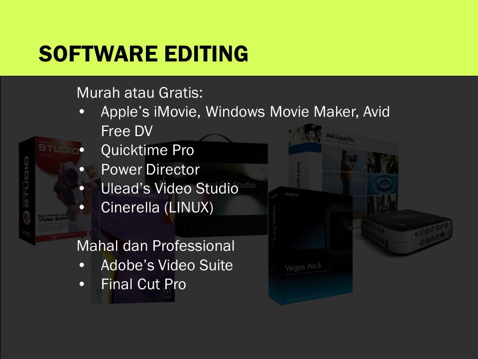SOFTWARE EDITING Murah atau Gratis: