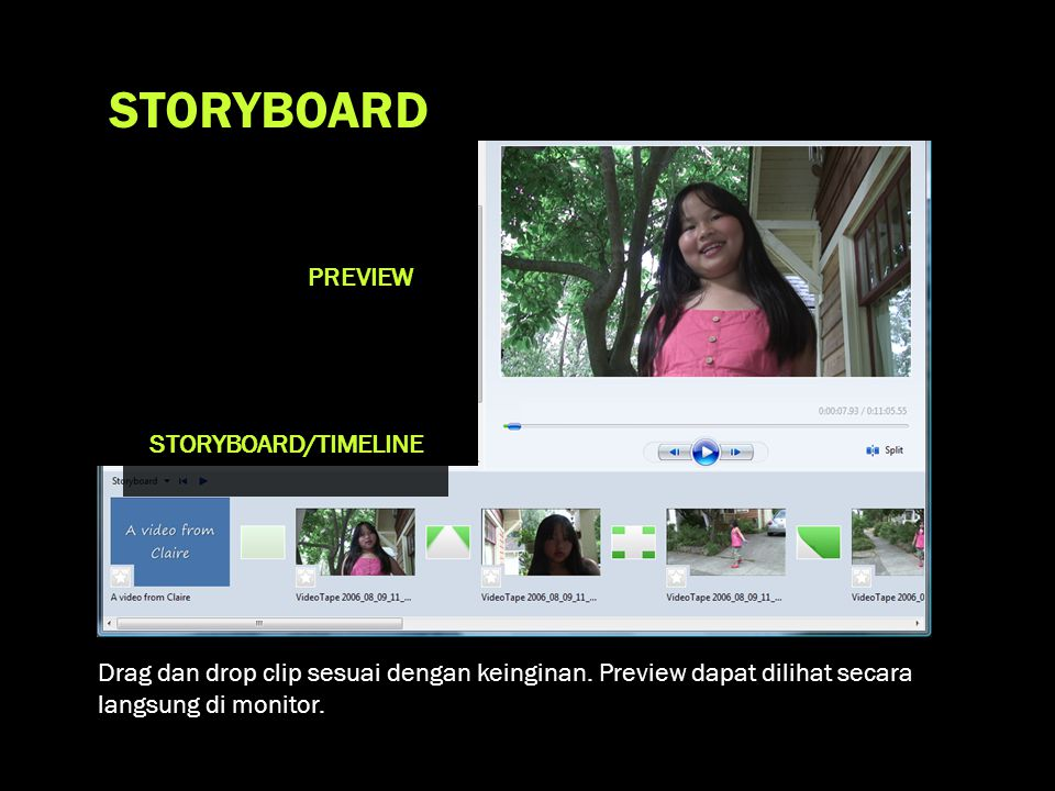 STORYBOARD PREVIEW STORYBOARD/TIMELINE