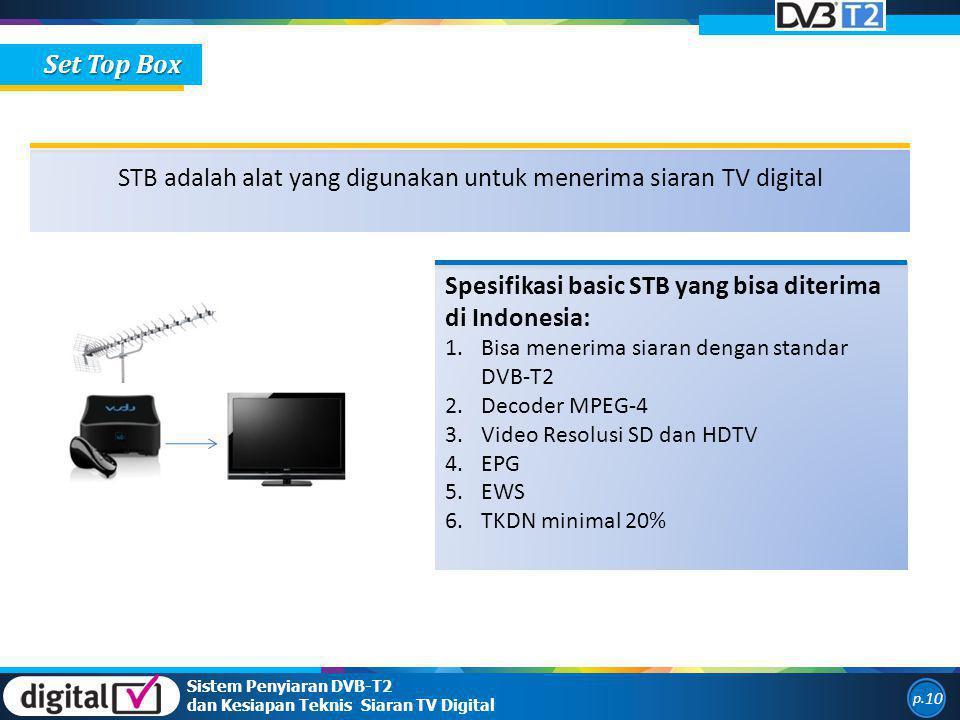 STB adalah alat yang digunakan untuk menerima siaran TV digital