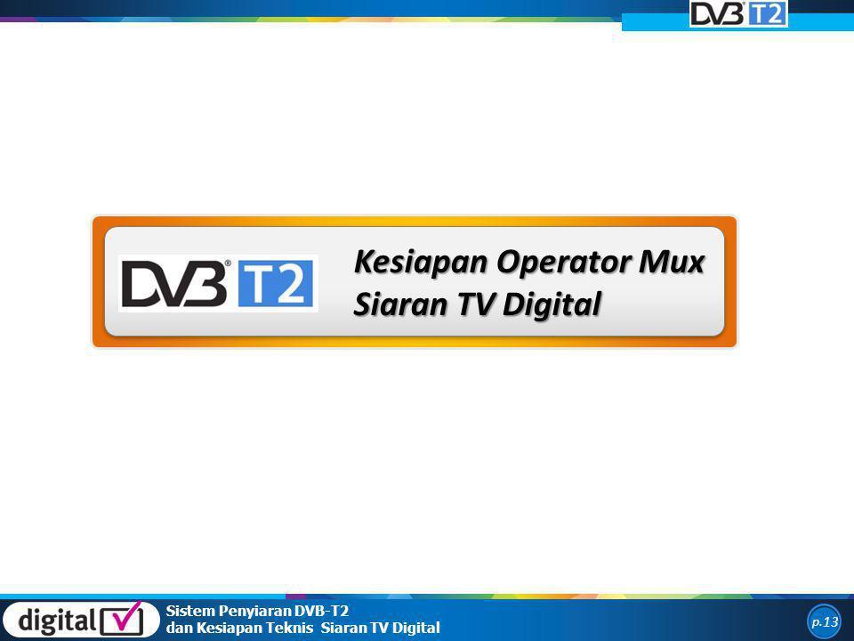 Kesiapan Operator Mux Siaran TV Digital