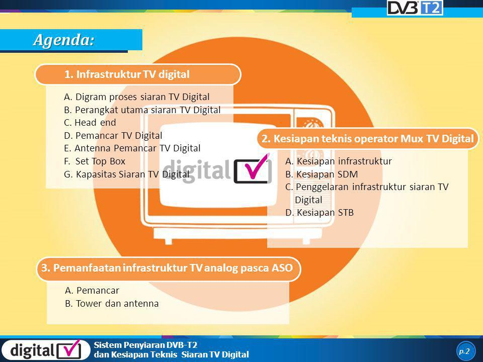 Agenda: 1. Infrastruktur TV digital