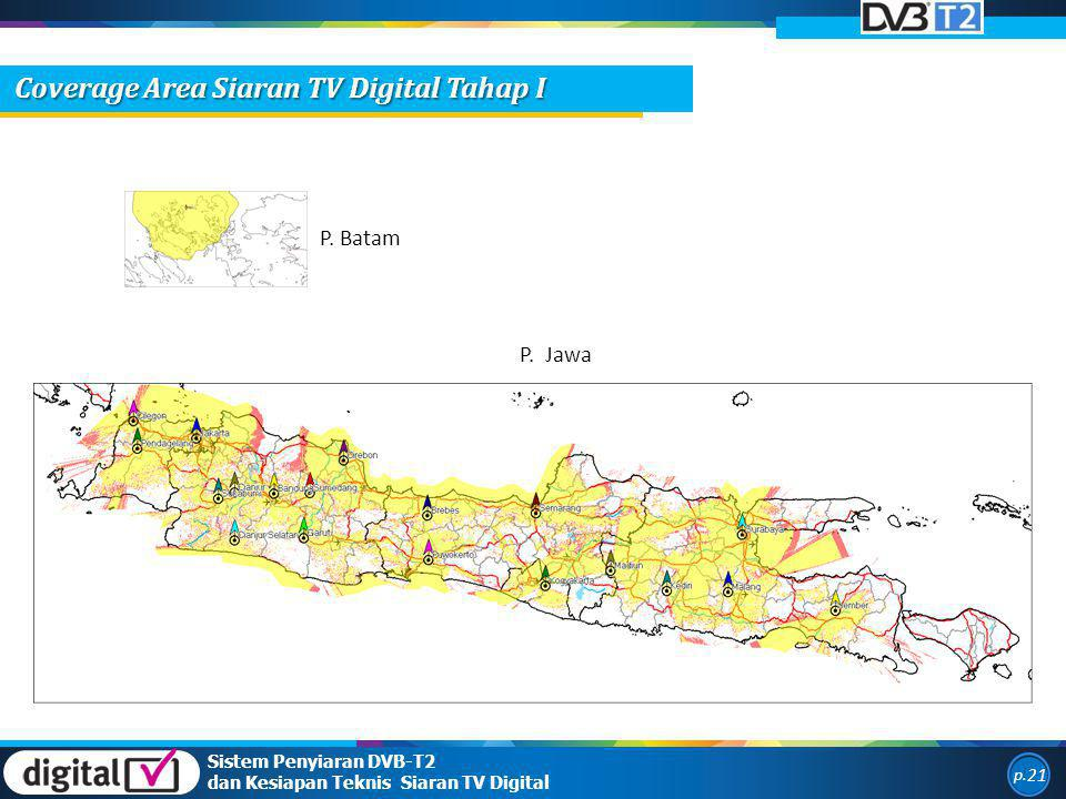 Coverage Area Siaran TV Digital Tahap I