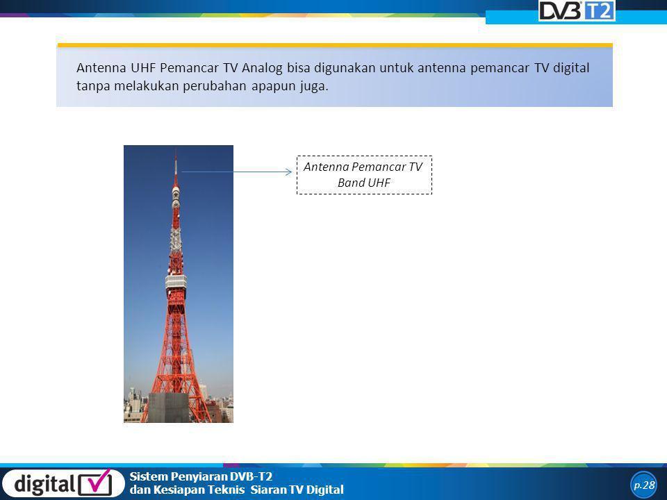 Antenna UHF Pemancar TV Analog bisa digunakan untuk antenna pemancar TV digital tanpa melakukan perubahan apapun juga.