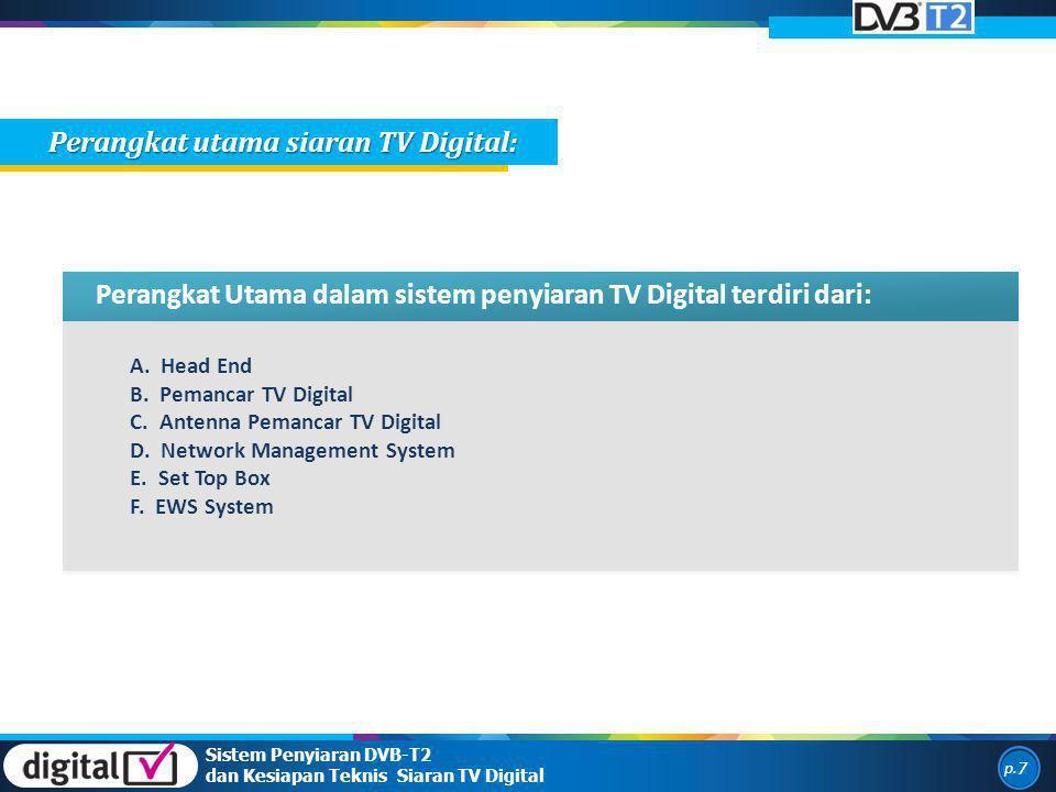 Perangkat utama siaran TV Digital: