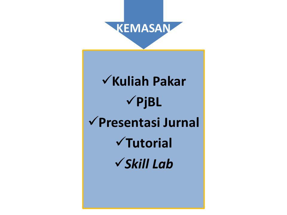 Kuliah Pakar PjBL Presentasi Jurnal Tutorial Skill Lab
