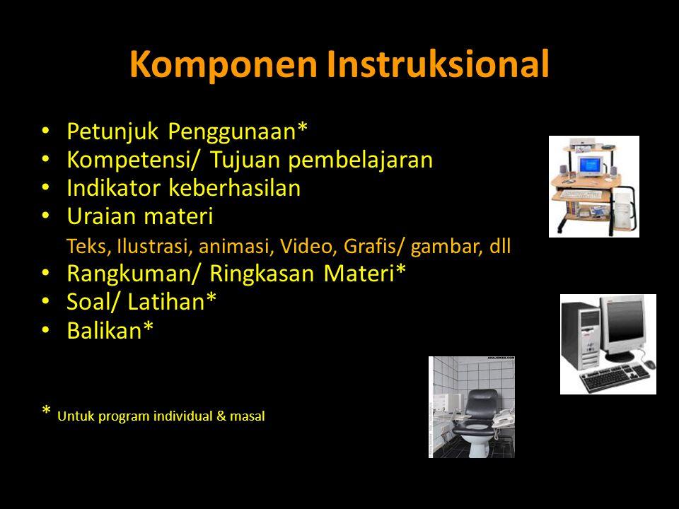 Komponen Instruksional