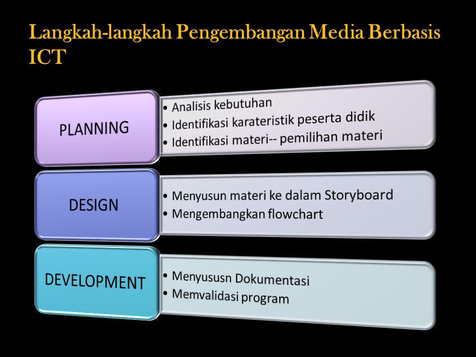Langkah-langkah Pengembangan Media Berbasis ICT