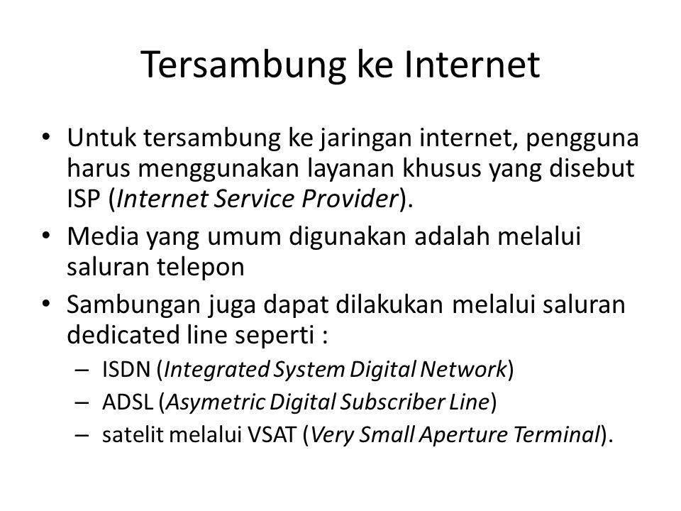 Tersambung ke Internet