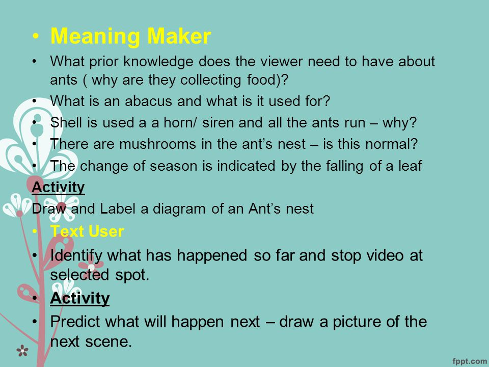 Meaning Maker Text User