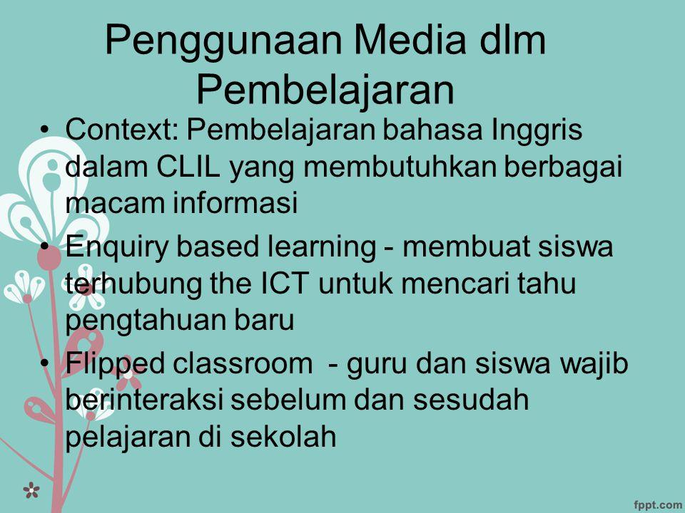 Penggunaan Media dlm Pembelajaran