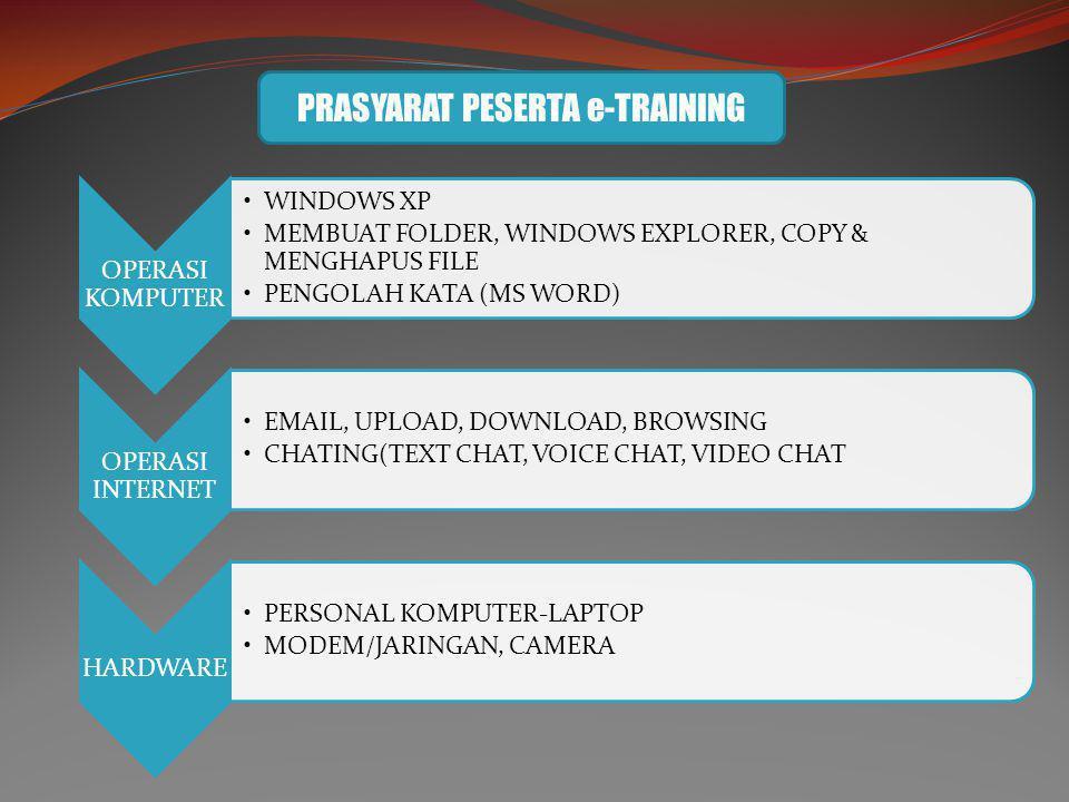 PRASYARAT PESERTA e-TRAINING