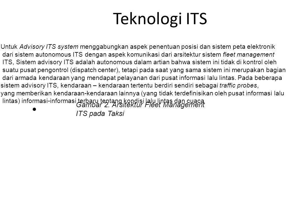 Teknologi ITS Gambar 2. Arsitektur Fleet Management ITS pada Taksi