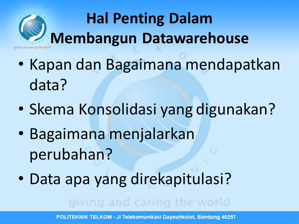 Hal Penting Dalam Membangun Datawarehouse