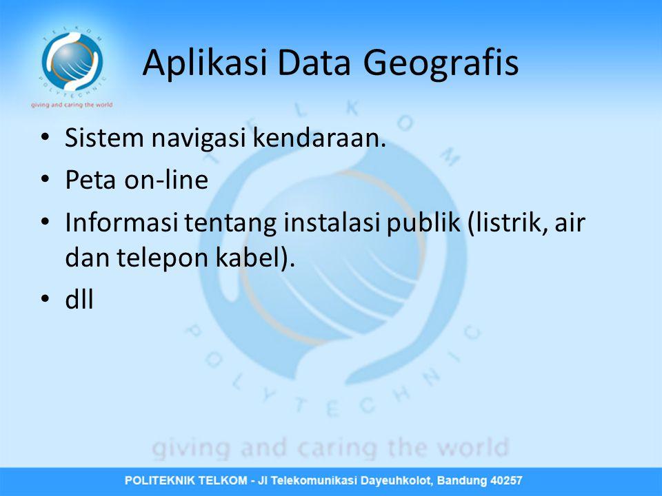 Aplikasi Data Geografis