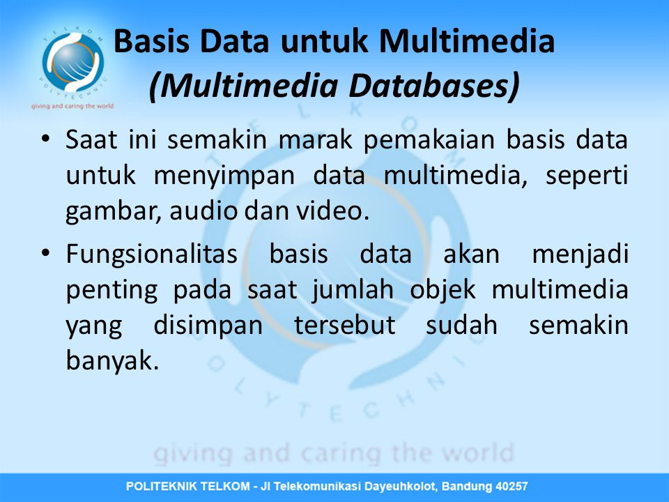 Basis Data untuk Multimedia (Multimedia Databases)
