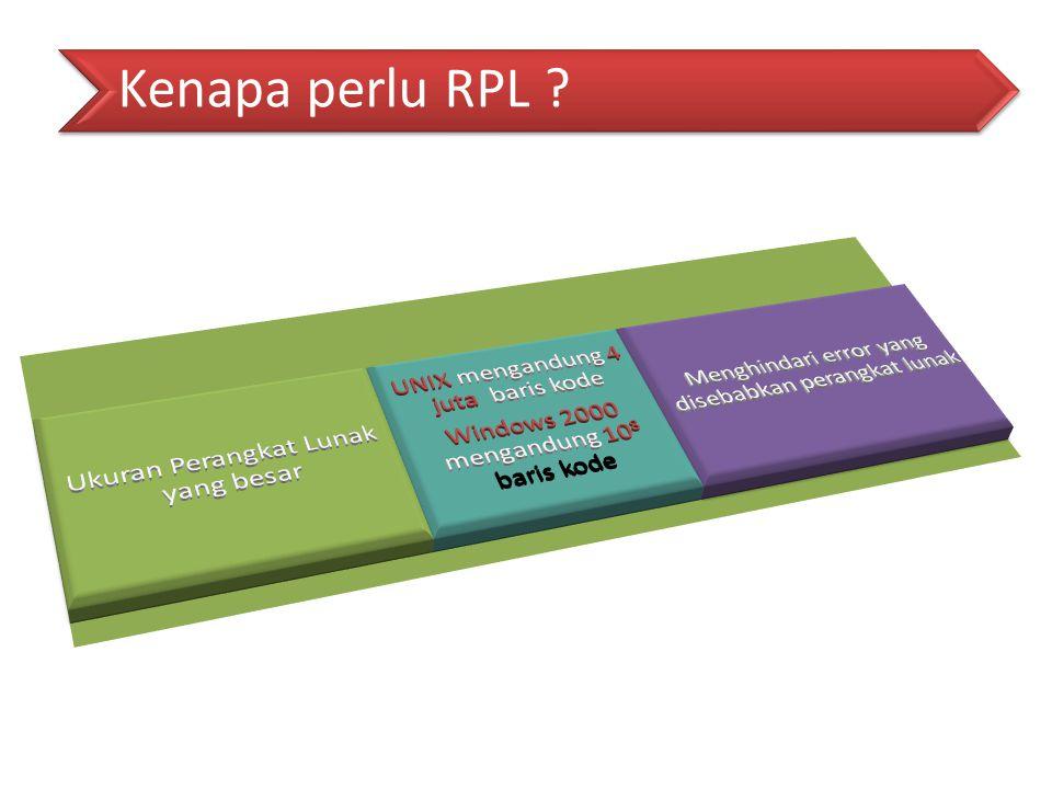 Kenapa perlu RPL Ukuran Perangkat Lunak yang besar