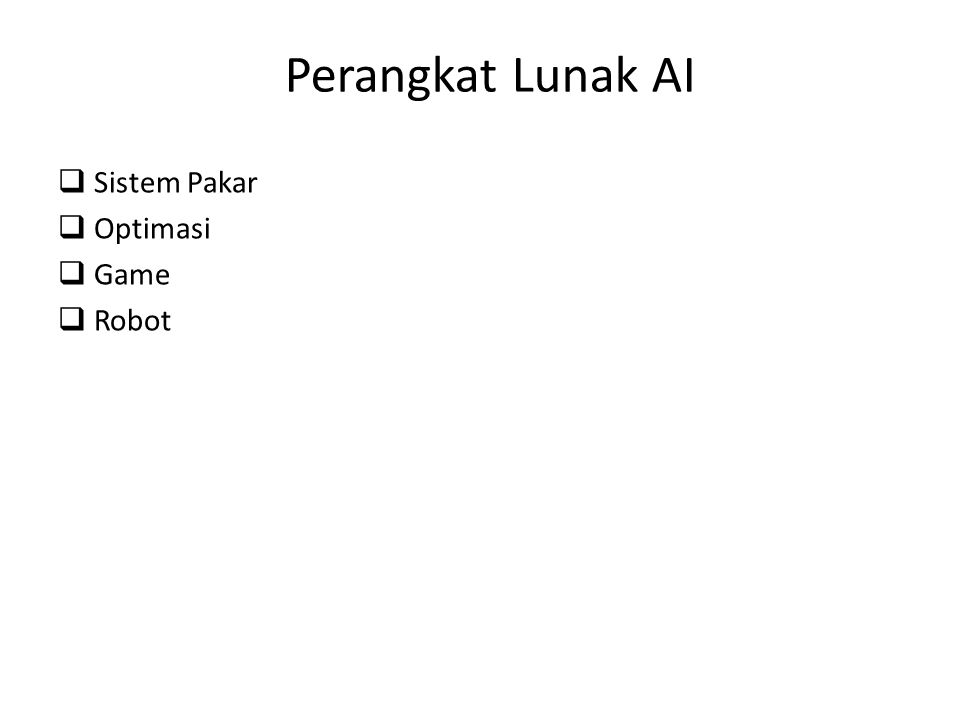 Perangkat Lunak AI Sistem Pakar Optimasi Game Robot