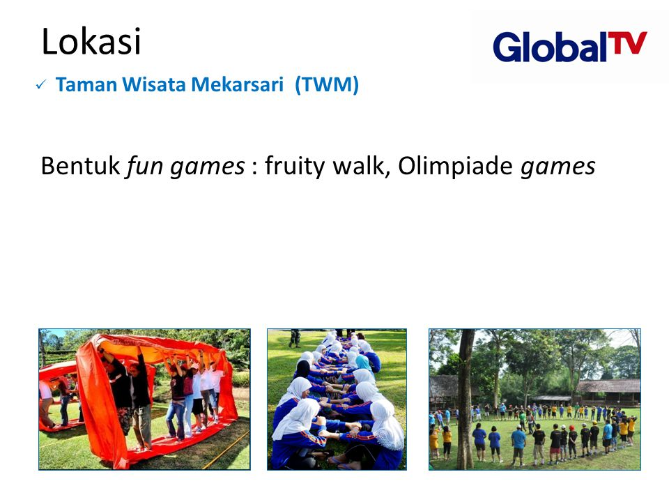 Lokasi Bentuk fun games : fruity walk, Olimpiade games