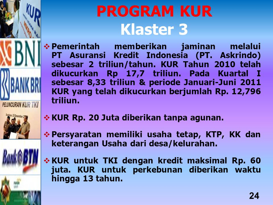 PROGRAM KUR Klaster 3.