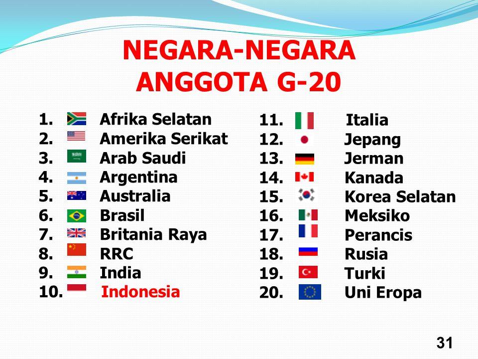 NEGARA-NEGARA ANGGOTA G-20