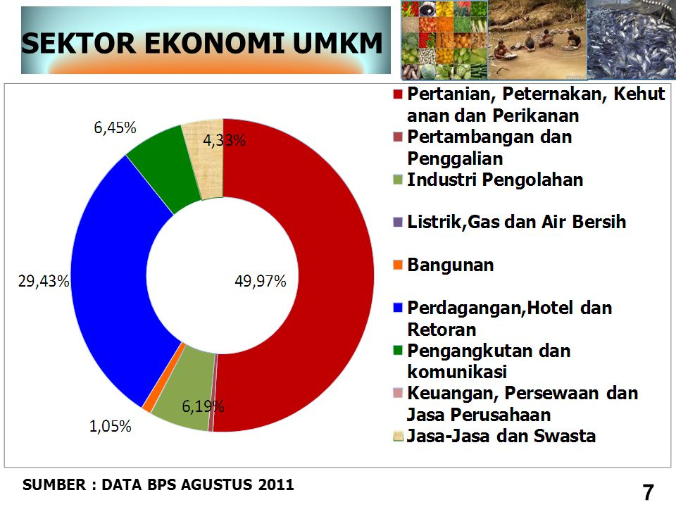 SEKTOR EKONOMI UMKM SUMBER : DATA BPS AGUSTUS 2011