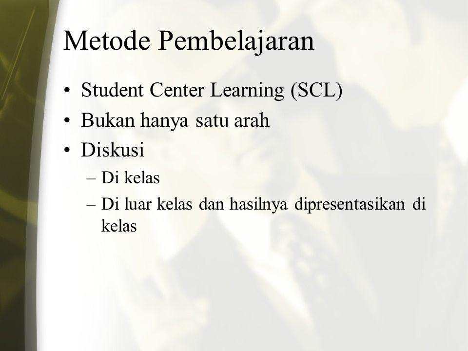 Metode Pembelajaran Student Center Learning (SCL)