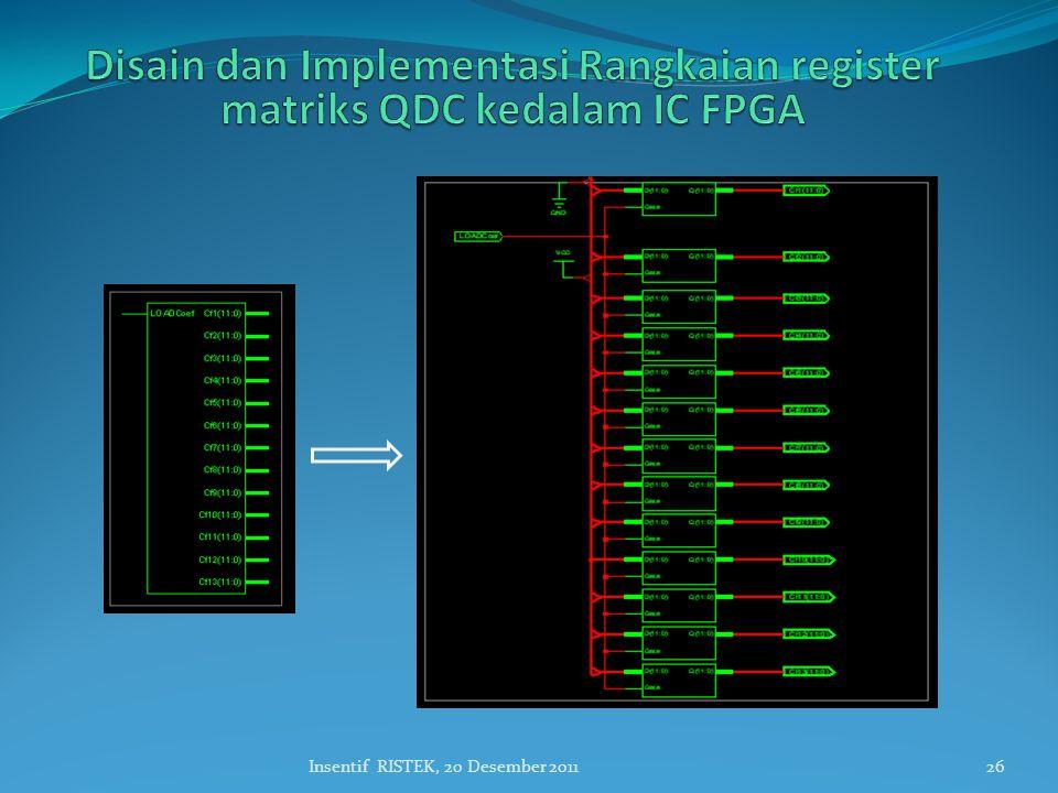 Disain dan Implementasi Rangkaian register matriks QDC kedalam IC FPGA