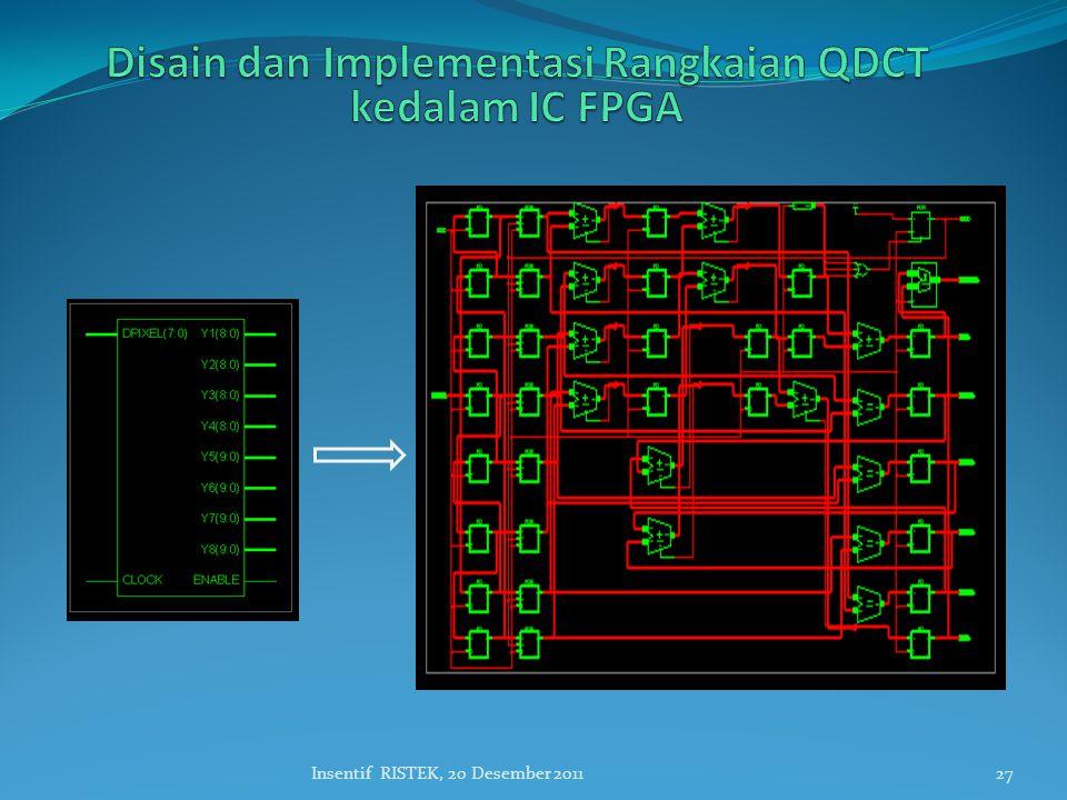 Disain dan Implementasi Rangkaian QDCT kedalam IC FPGA