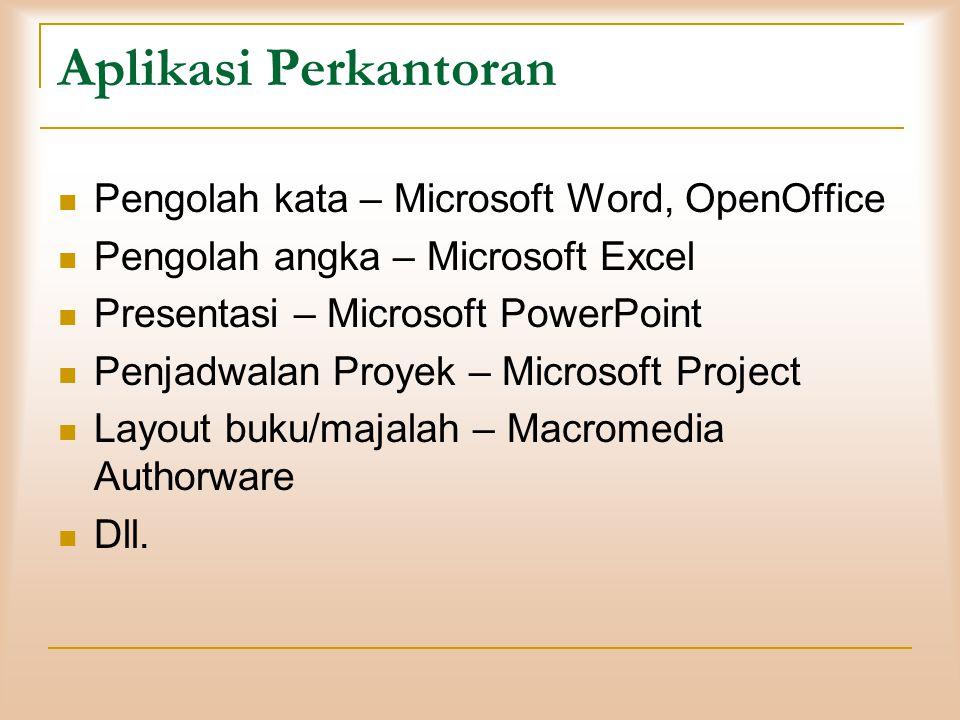 Aplikasi Perkantoran Pengolah kata – Microsoft Word, OpenOffice