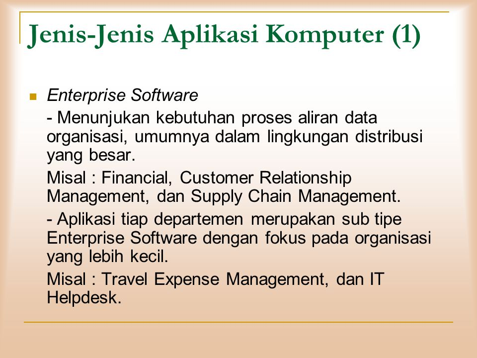 Jenis-Jenis Aplikasi Komputer (1)