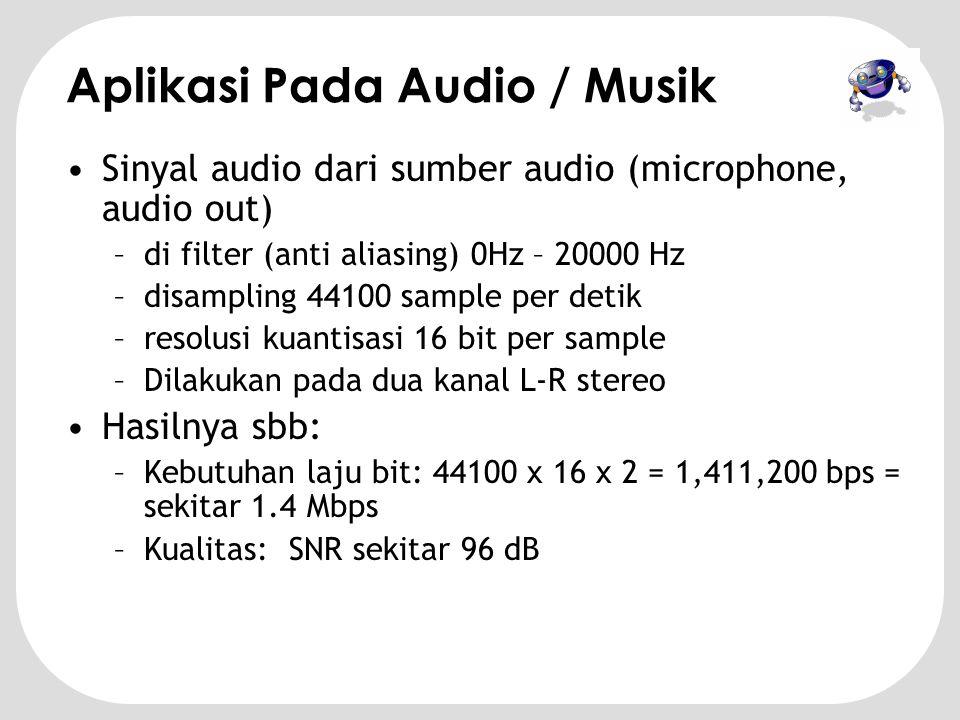 Aplikasi Pada Audio / Musik