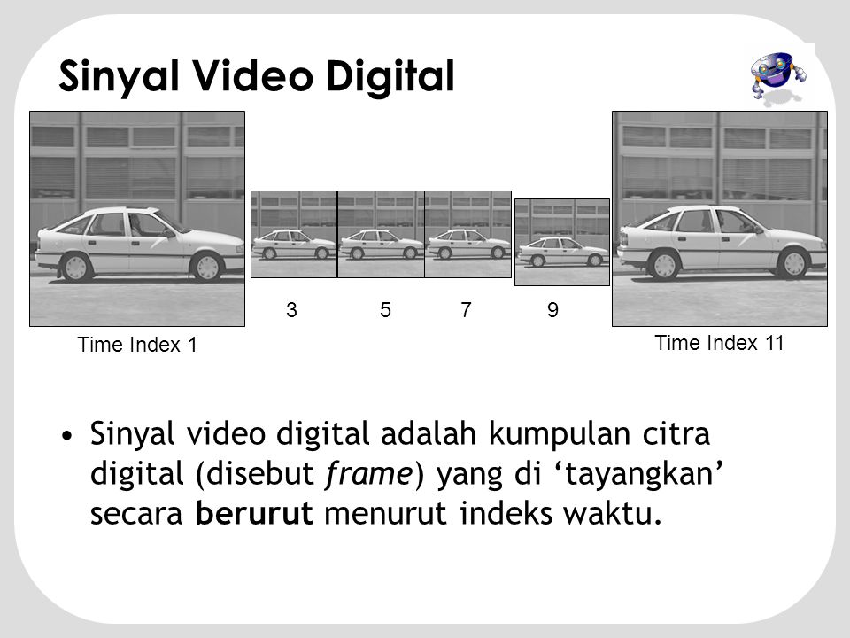 Sinyal Video Digital 3. 5. 7. 9. Time Index 1. Time Index 11.