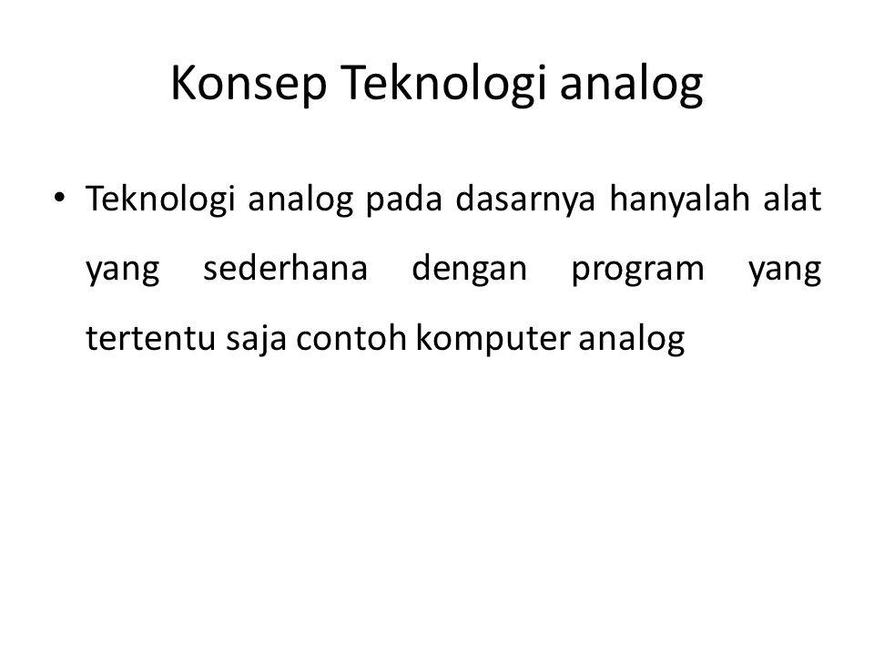 Konsep Teknologi analog