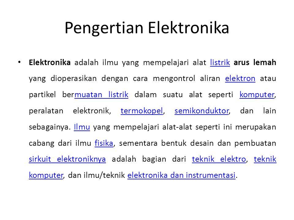 Pengertian Elektronika