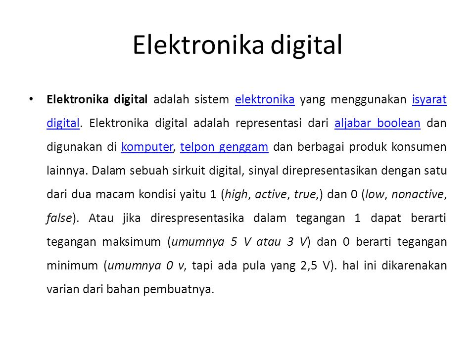 Elektronika digital