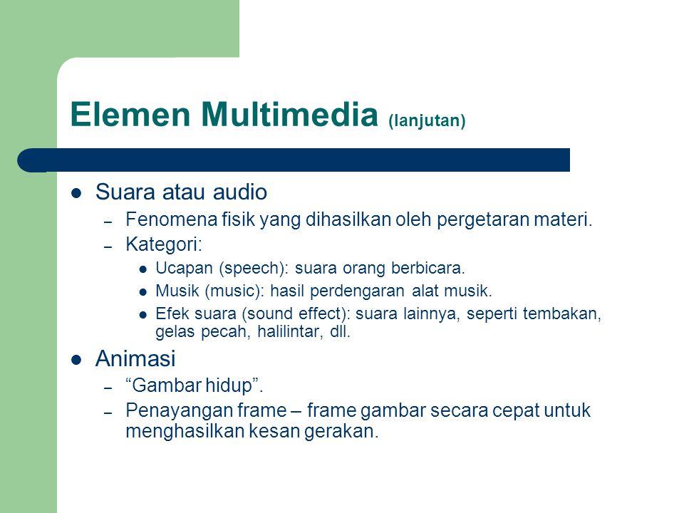 Elemen Multimedia (lanjutan)