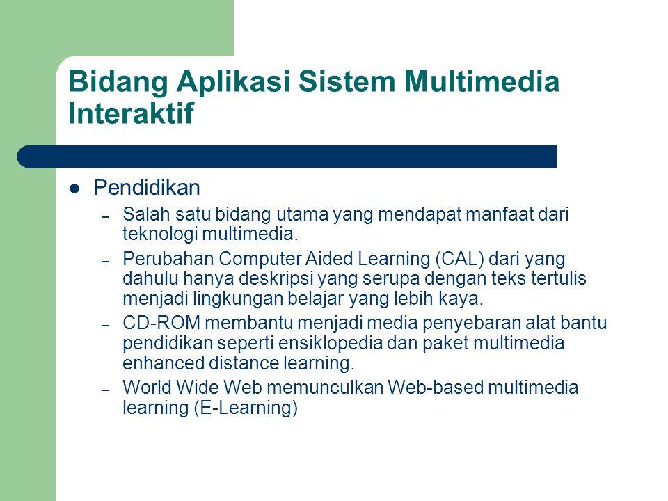 Bidang Aplikasi Sistem Multimedia Interaktif