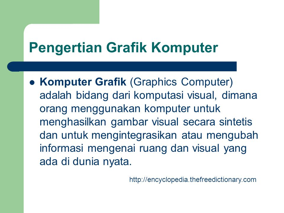 Pengertian Grafik Komputer