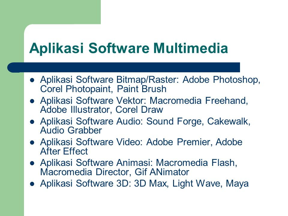 Aplikasi Software Multimedia