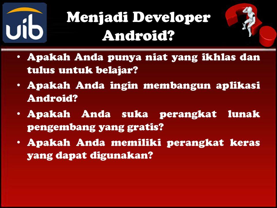 Menjadi Developer Android