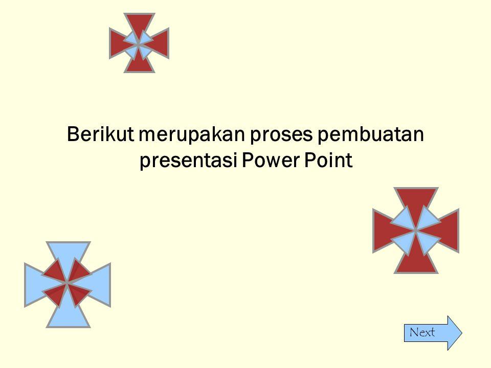 Berikut merupakan proses pembuatan presentasi Power Point