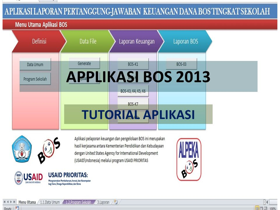 APPLIKASI BOS 2013 TUTORIAL APLIKASI