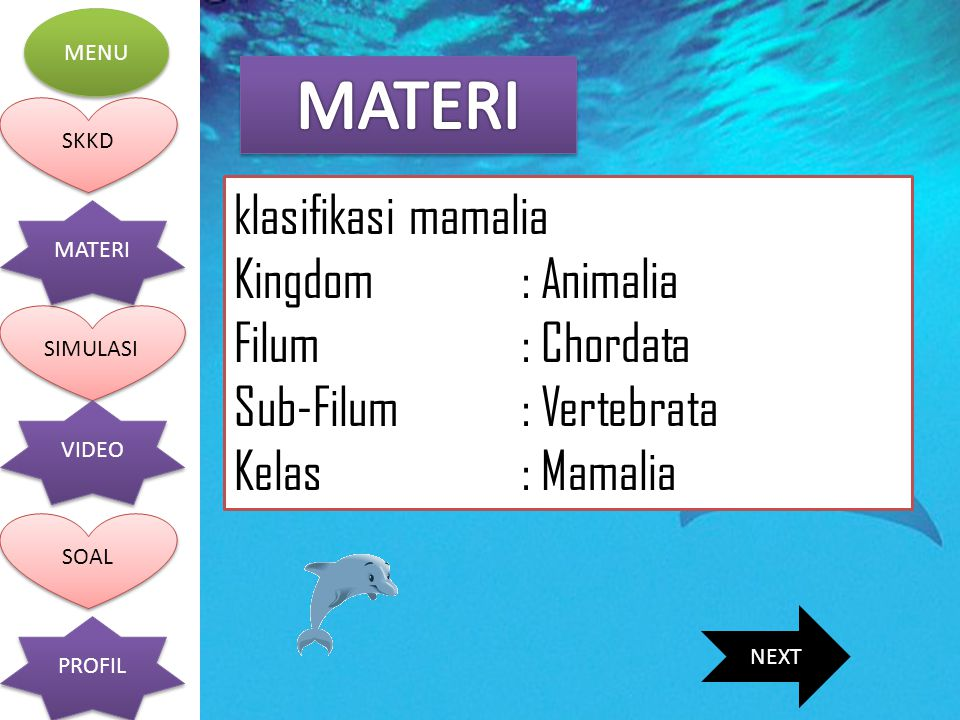 MATERI klasifikasi mamalia