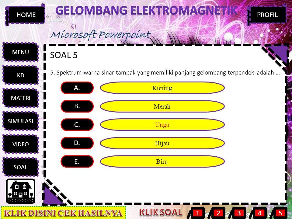 Gelombang elektromagnetik KLIK DISINI CEK HASILNYA