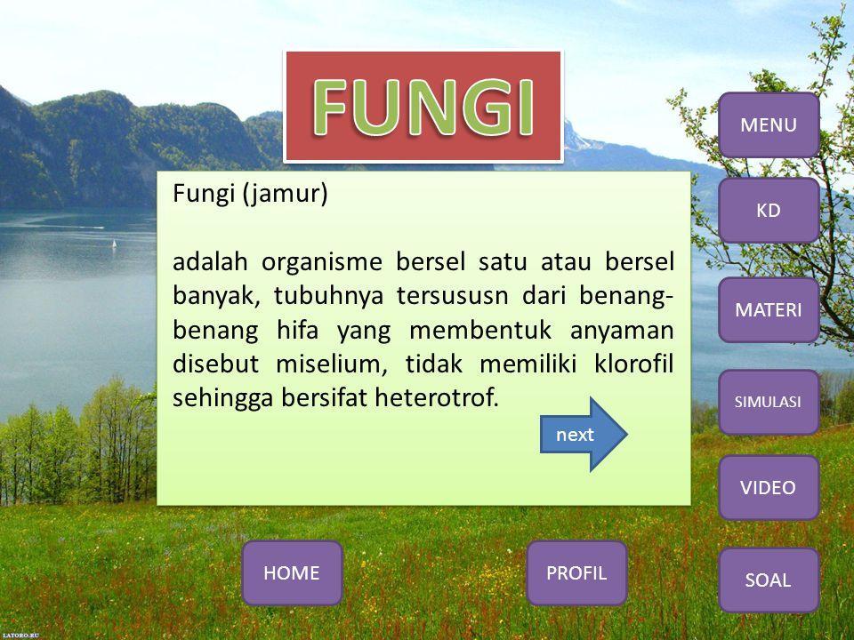 MENU Fungi (jamur)