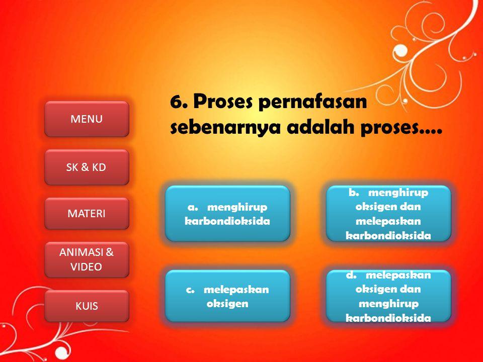 6. Proses pernafasan sebenarnya adalah proses….