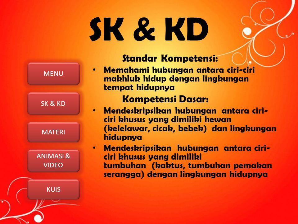 SK & KD Standar Kompetensi: Kompetensi Dasar:
