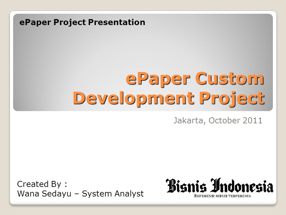 ePaper Custom Development Project