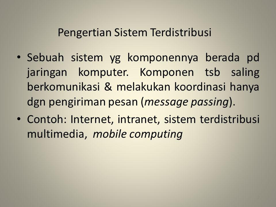 Pengertian Sistem Terdistribusi
